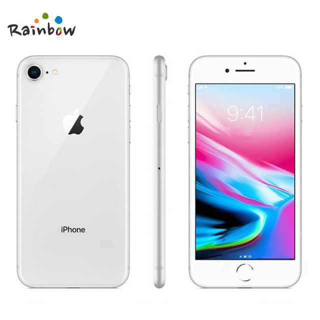 Original Apple iPhone 8 4.7 inch Hexa Core 2GB RAM 64GB ROM 12MP & 7MP Camera 1821mAh iOS LTE Fingerprint Touch ID Mobile Phone 6