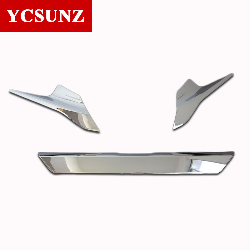 Chrome Front Grille For Honda Civic 2017 Car Front Grille Cover Trim ABS Chrome Accessories For Honda Civic 2016 Chrome Grilles chrome mesh grille grilles cover trim near front fog light lamp for vw volkswagon touareg 2011 2012 2013 2014