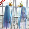 IMCOSER  High Quality Heat Resistant Shiro Wig Anime No Game No Life Cosplay Wigs Long Ombre Ponytails Sexy Synthetic Hair
