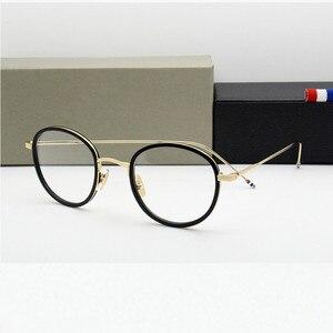 Image 2 - באיכות גבוהה עגול בצורת אצטט TB905 משקפיים מסגרת גברים רטרו משקפיים נשים קוצר ראיה קריאת eyewear Oculos דה גראו