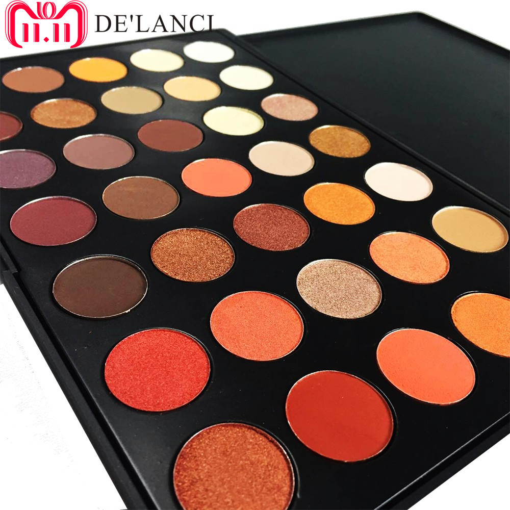 DE'LANCI Newest 35 Colors Shimmer Matte Eye shadow Professional Makeup Eyeshadow Palette Beauty Make up Set