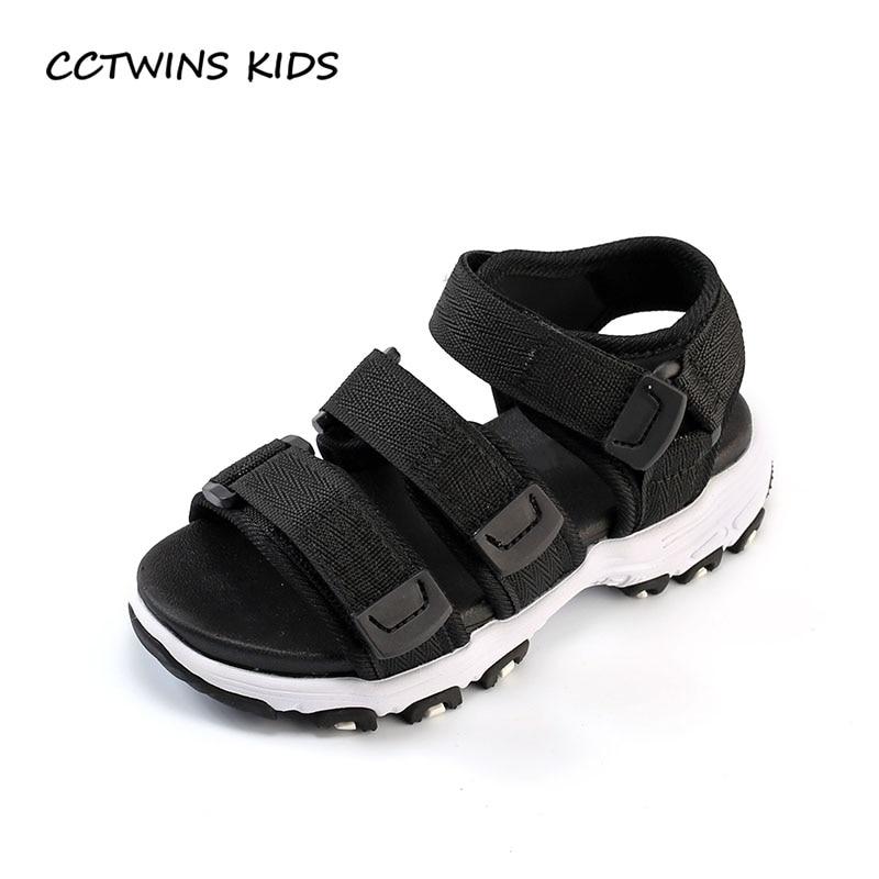 CCTWINS KIDS 2018 Summer Children Fashion Barefoot Sandal Baby Girl Casual Beach Shoe Boy Brand Black Flat Toddler BB183