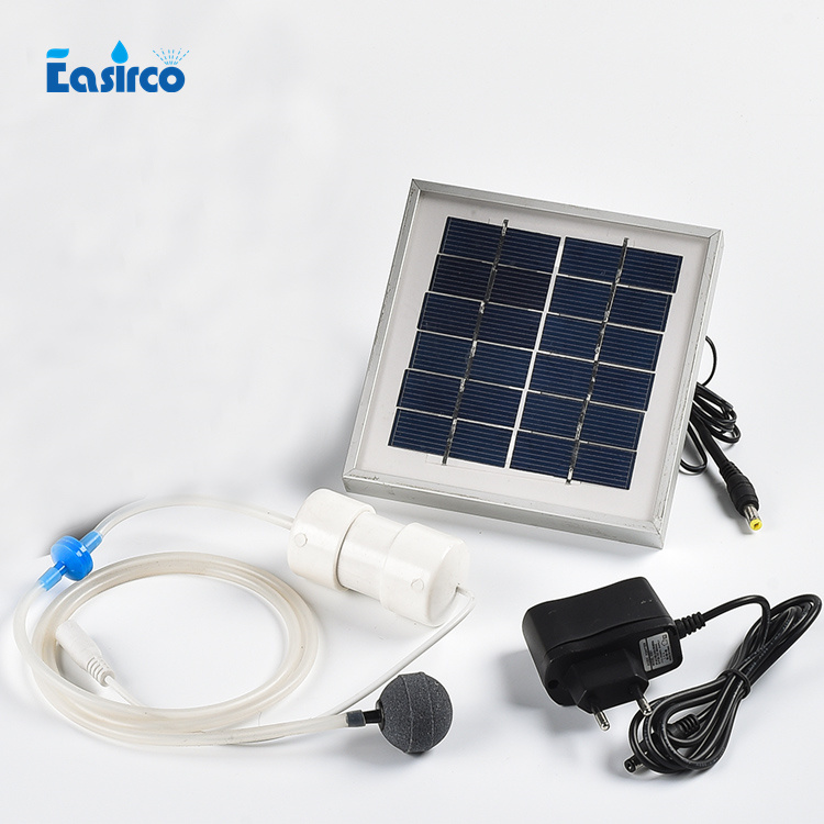 2W Solar Energy air pump 2L/MIN for hydroponics system.Go fishing, Aluminum alloy frame,Free shipping