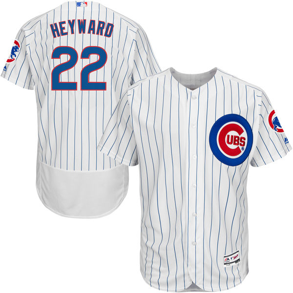 aa1fe1550 2018 MLB Men s Chicago Cubs Jason Heyward Majestic Home White Royal Flex  Base Authentic Collection Player Baseball Jersey
