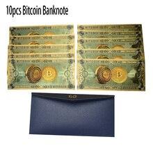 10pcs Colorful Bitcoin Banknote Gold foil coloreful One Bitcoin Banknote BTC Gift cena bitkoina snijaetsia posle hardforka bitcoin gold na altkoinah nametilsia bychii trend