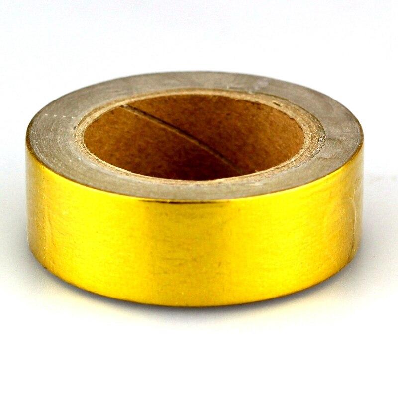 Gold Foil Washi Tape Japanese Paper 1.5*10meter Kawaii Scrapbooking Tools Mix Solid Colors Masking Tape Adhesiva Decorativa Tape цены