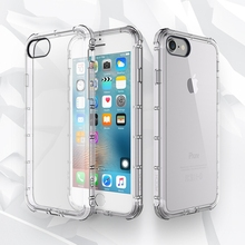 Slim Crystal Clear Soft  For Apple iPhone7 iPhone7 Plus Case TPU Silicone iphone case for iPhone 6 6s 6splus case phone cases