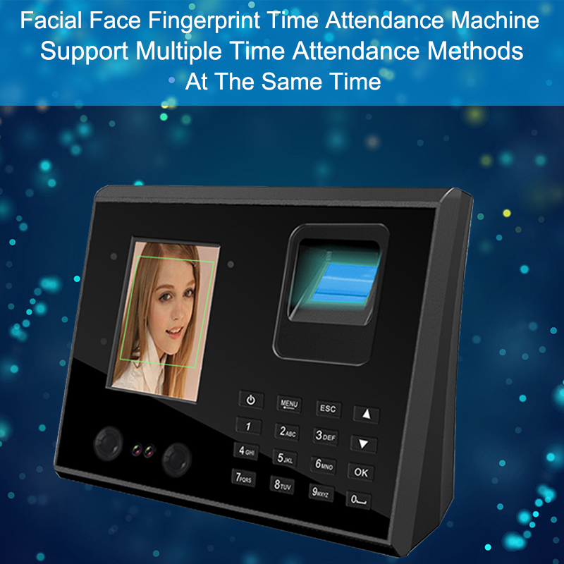 Biometric Attendance System Face &Fingerprint Recognition TCP/IP Time  Attendance System Clock Recorder Employee Reader Machine