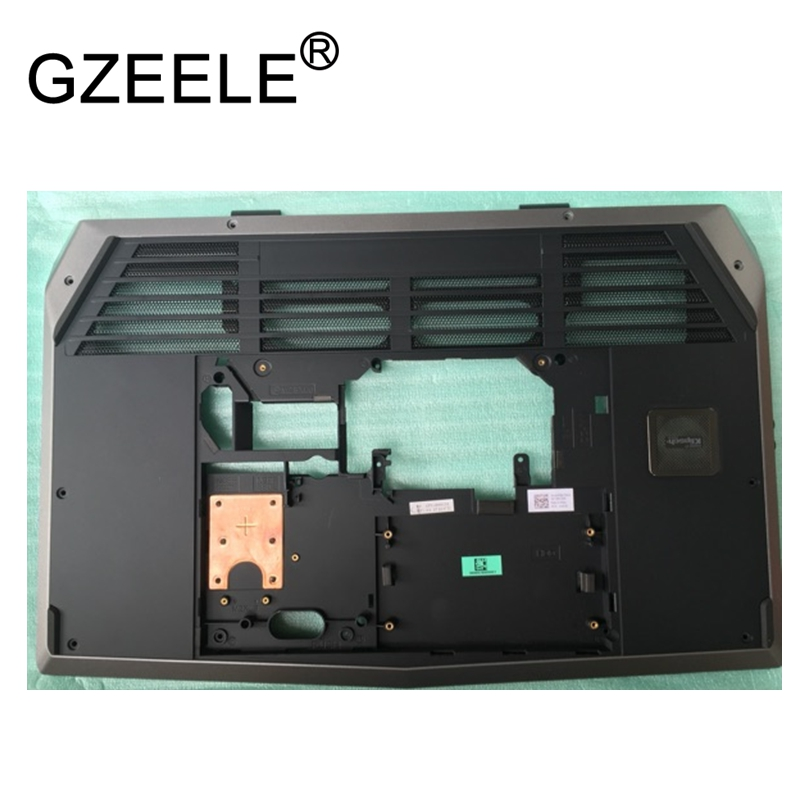 GZEELE New For DELL Alienware M17X R2 R3 Bottom Base Cover Case 01MTK2 lower shell laptop a95x a1 4k tv box tronsmart tsm01 air mouse