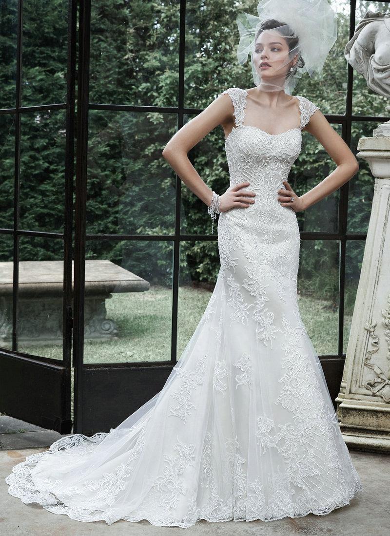 Mermaid Wedding Dresses With Sleeves Detachable Wedding Dress