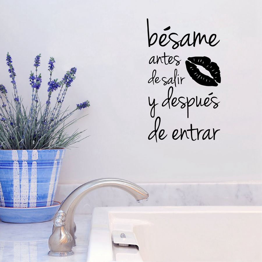 Renkli oturma gruplari 5 quotes - Besame Wall Sticker Spanish Kiss Me Love Quotes Wall Decals For Living Room Decor