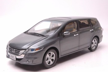 1:18 Diecast Model for Honda Odyssey 2013 Gray MPV Alloy Toy Car Miniature Collection Gifts Van honda odyssey