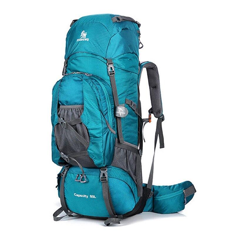 Sac à dos de randonnée Camping imperméable 80L utilitaire sac de voyage d'escalade Support en alliage d'aluminium sac à dos de randonnée