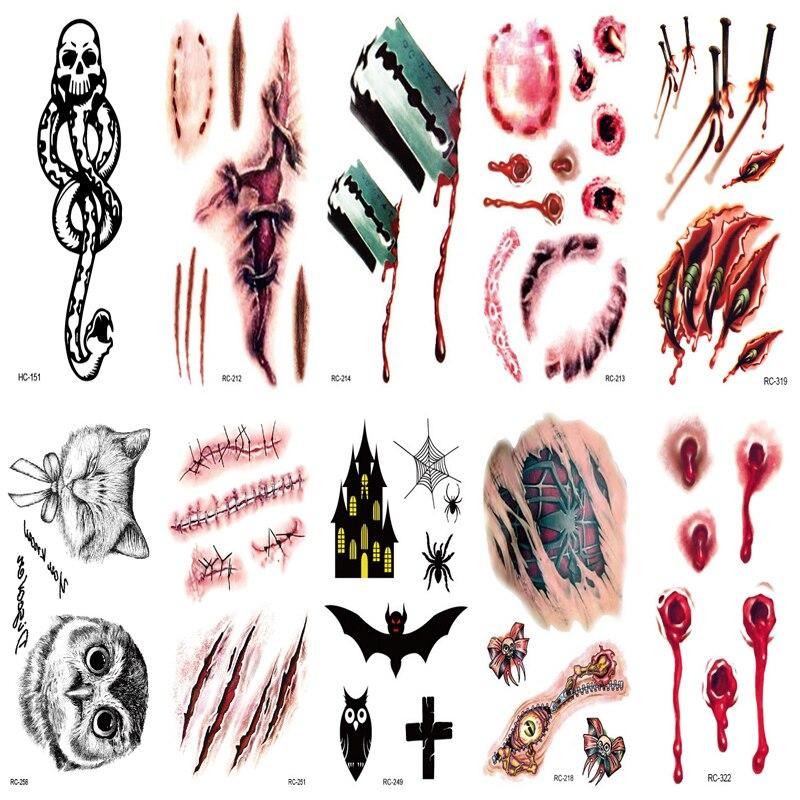 10pcs Set Waterproof Temporary Tattoo Stickers