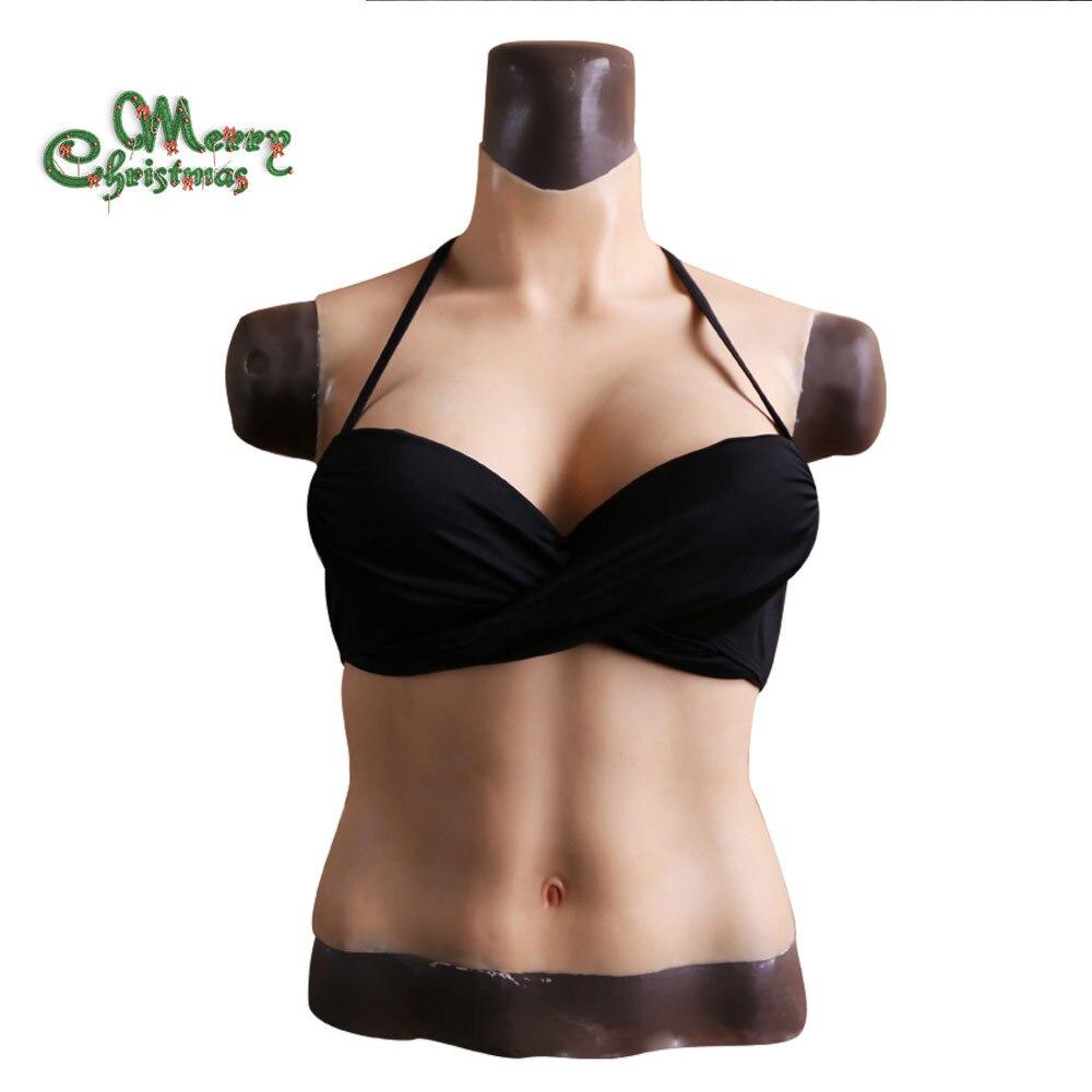 EYUNG moitié corps solide D tasse seins pour crossdresser sein plaque pour cosplay Transgenres Par SGS certification Puissance vendeur
