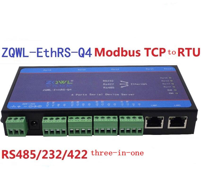 4 Series Oral Server/232 485 to Dual Network to Serial Port/Switch/Modbus TCP/RTU
