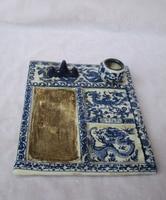 Chinese Antique Porcelain Four Treasures /Classic Ceramic Calligraphy tool