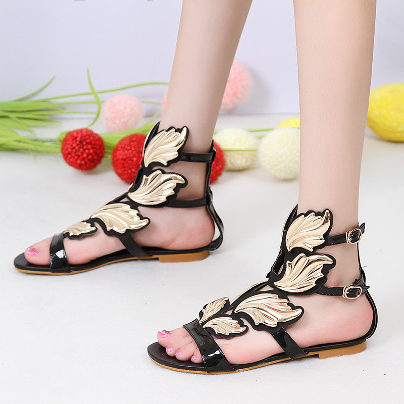 Lenksien concise style wedges platform patchwork pointed toe lace up women pumps natural leather punk dating casual shoes L18 - 4