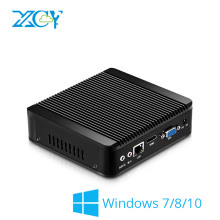 XCY Мини-ПК Celeron N2830 Окна 7/8/10 HTPC тонкий клиент неттоп HDMI VGA WiFi Micro Desktop NUC без вентилятора бесшумные полный Алюминий