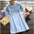 2015 new Fashion maternity clothing maternity short-sleeve top loose summer maternity dress
