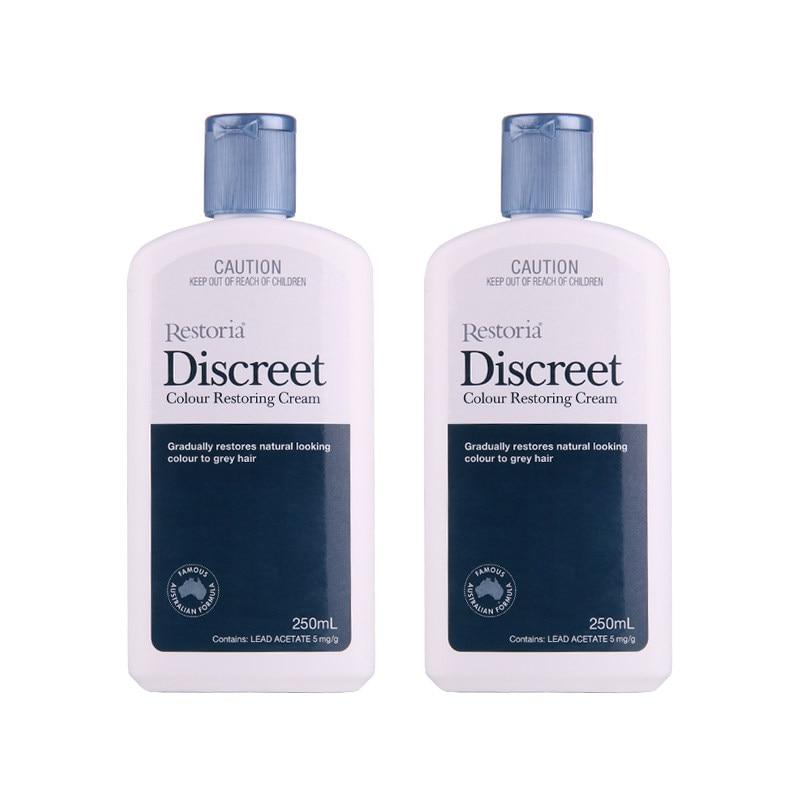 100 Australia made Restoria Discreet Colour Restoring Cream Lotion Hair Care250ml 2Pcs Reduce Grey Hair Suitable