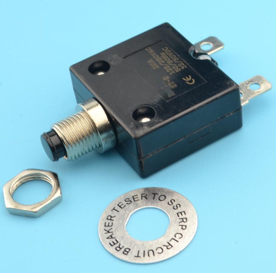 40A AC125/250 V Itme Sıfırlama Düğmesi devre kesici Aşırı Yük Koruyucu mini devre kesici