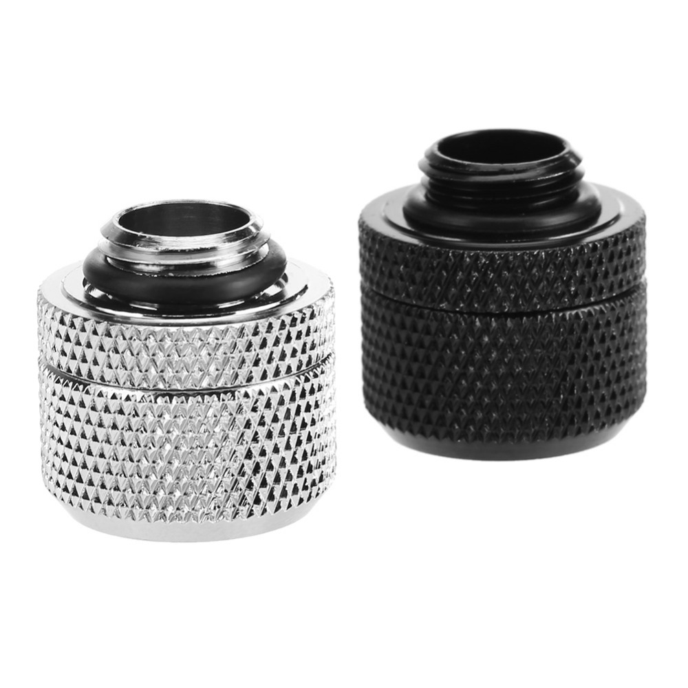 Water Cooling Fittings G1/4 Brass External Thread Hose Adapter Connector For 10x16mm Soft Tube Computer PC Water Cooling System