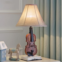 popular pastoral design Violin deco table lamp creative desk lights for children bedroom bedside lamp study lamp fashion lumina