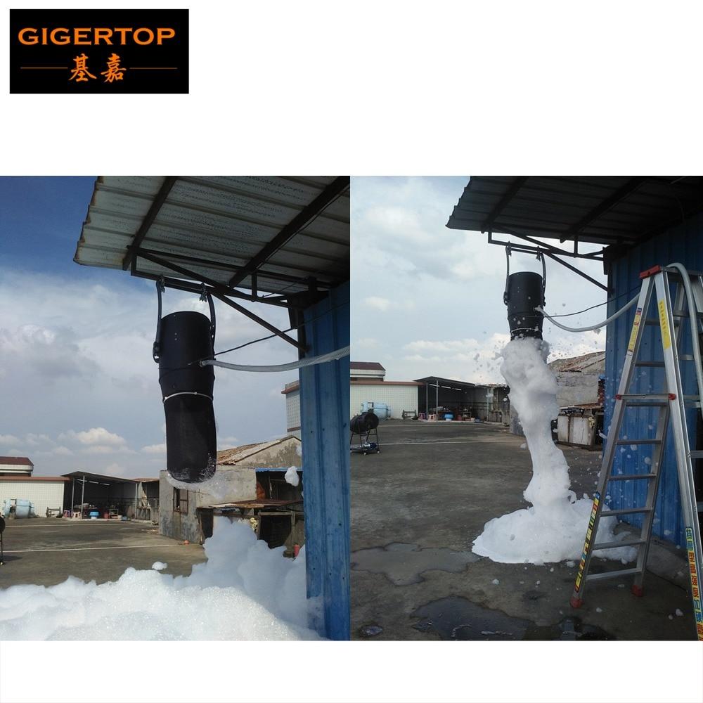 TIPTOP 1200W Hang Foam Machine Stage Party Club Large Foam Projector High Power Oil Pump Hang Design Bracket Flight Case Packing