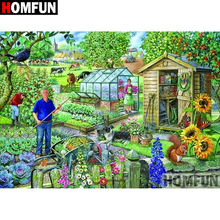 HOMFUN 5D DIY Diamond Painting Full Square/Round Drill Country scenery Embroidery Cross Stitch gift Home Decor Gift A08325 homfun 5d diy diamond painting full square round drill seaside scenery embroidery cross stitch gift home decor gift a08372