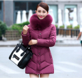 Latest Winter Fashion Women Coat Elegant Hooded Fur collar Thick Warm Down jacket High-end Slim Big yards Medium long Coat G2221