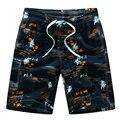 Nueva llegada 2017 pantalones cortos de verano de hombres casual slim fit cordón impresión de la manera pantalones cortos para hombre amarillo orange azul