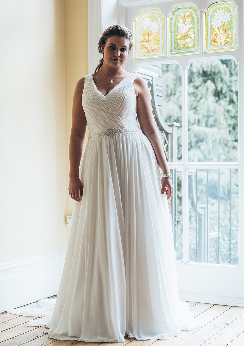 Wedding Gown with Belt vestidos de noiva Plus size (3)