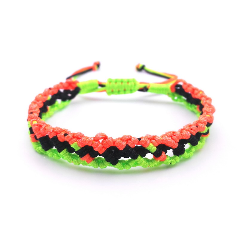 Responsible Newest Arrival Rope Charm Rose Red Black Green Woven Bracelet For Women 13 Colors Adjustable Bracelet Christmas Male Jewelry Removing Obstruction Charm Bracelets