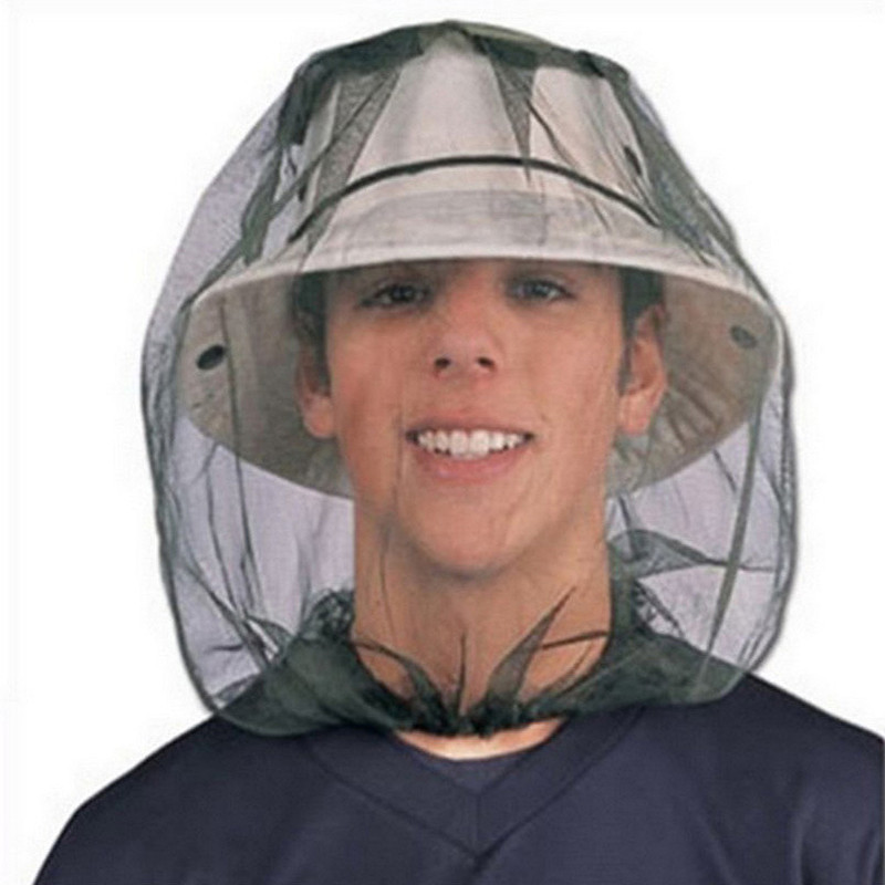 Travel Camping Face Protector Mosquito Insect Hat Bug Mesh Head Net Caps Outdoor Hiking Bush Hat Anti-insect Mesh