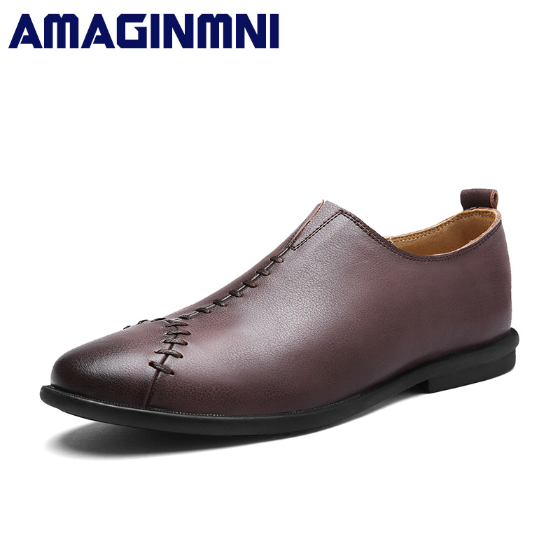 Fashion personality Casual Driving Shoes Men Genuine Leather Loafers Men Shoes Spring/Autumn Men Loafers Luxury Brand Flats Shoe mycolen brand new fashion autumn spring men driving shoes loafers leather boat shoes breathable male casual flats loafers
