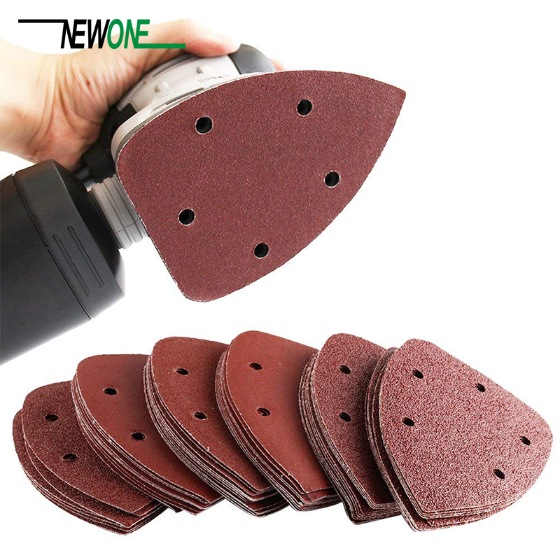 72pcs/set 140mm Mouse Detail Sandpaper Sander Pads Sanding Sheets Assorted 40 60 80 120 240 Grits