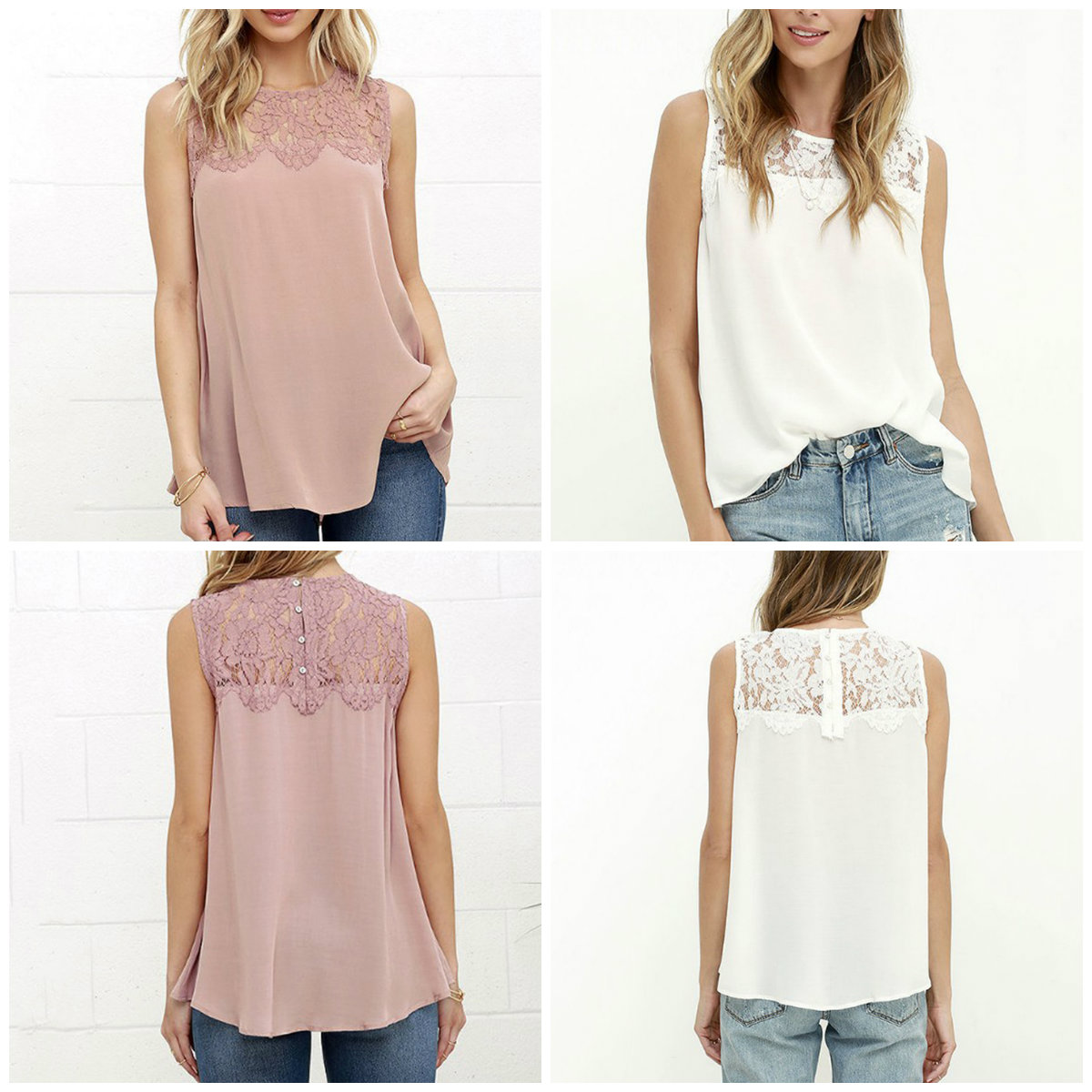 Summer Office Women   Tops   Pink White Floral Lace Chiffon   Tank     Top   Sleeveless   Top   Female Crochet Lace   Tops   S, M, L, XL,XXL,XXXL