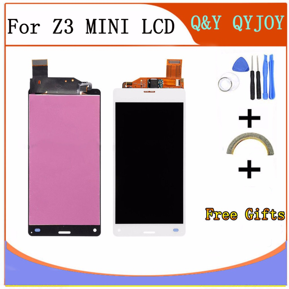 Q Y QYJOY 4 3 Inch Black For Sony Xperia Z3 Compact LCD Display Z3 Mini
