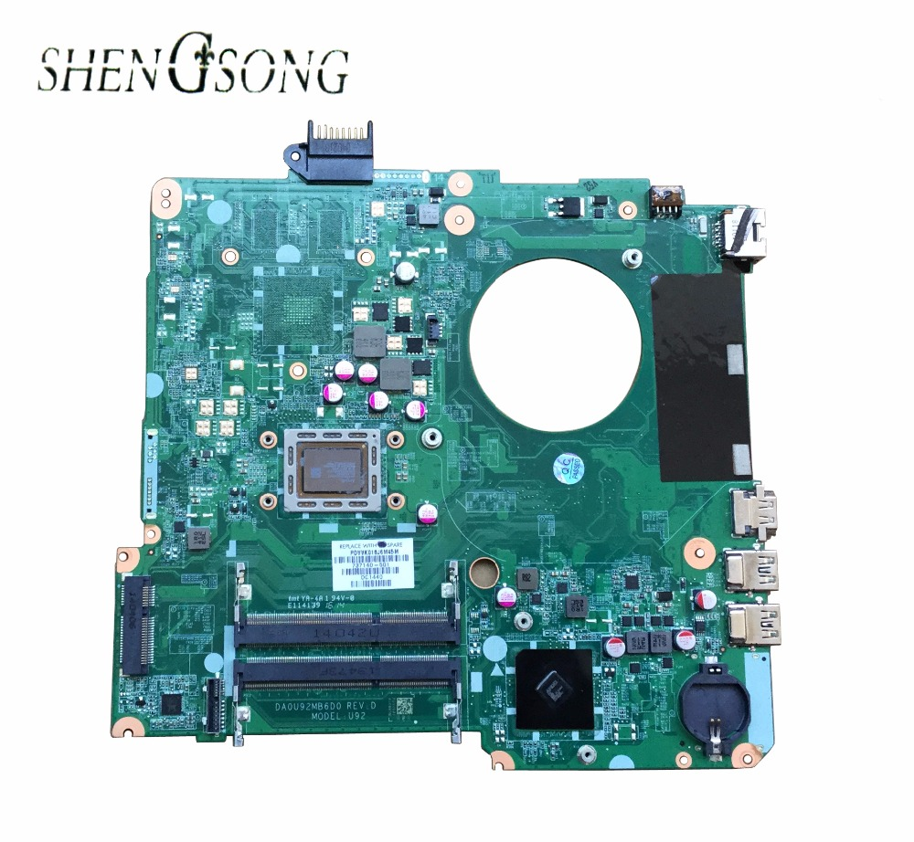 734829-501 734829-001 Free Shipping 734829-601 For HP Pavilion 15-N 15-N013DX Motherboard DA0U92MB6D0 100%tested&fully work free shipping 712794 001 for hp pavilion touchsmart 15 15 b motherboard hm77 i5 3337u all functions 100% fully tested
