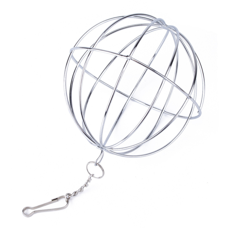 Stainless Steel Round Sphere Food Feed Dispenser Hanging Ball Toy