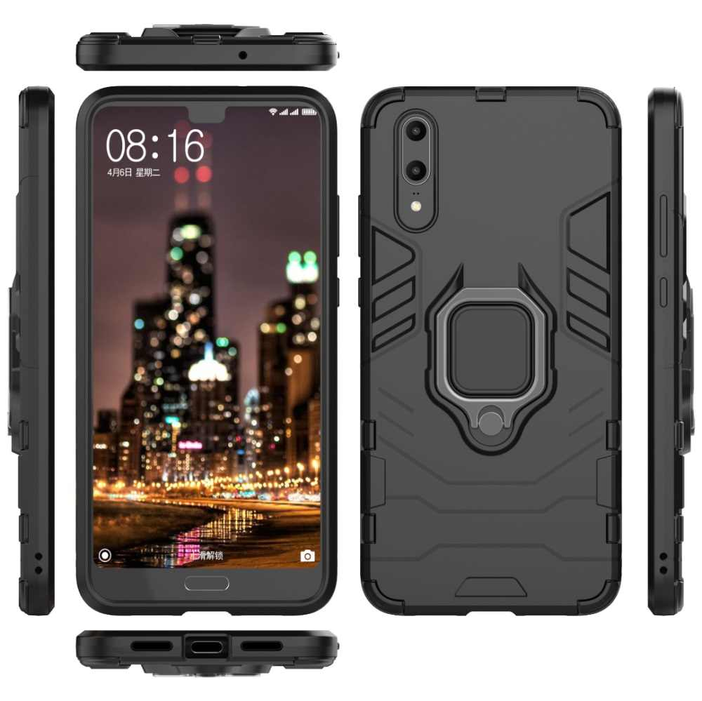 Shockproof Armor Case For Huawei P20 Lite Kickstand Finger Ring Holder Case For Huawei P20 Pro Phone Case Cover Shell Capa
