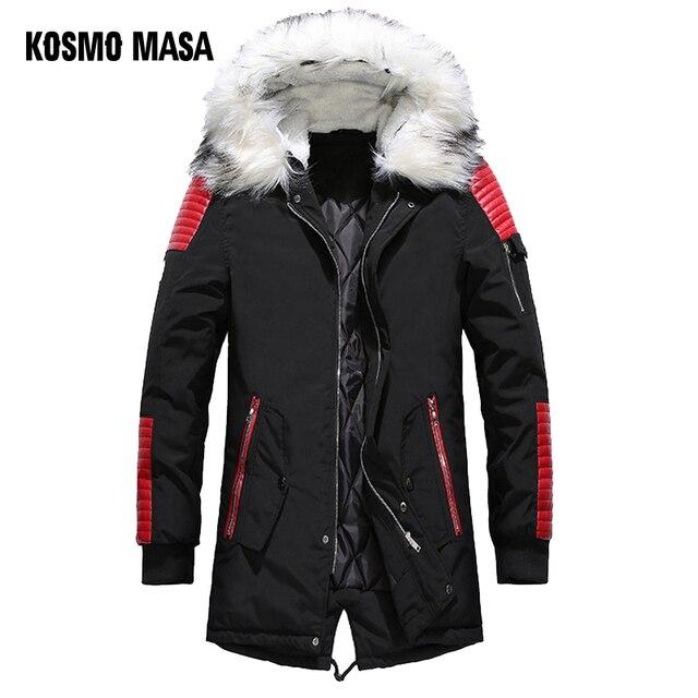 Best Buy KOSMO MASA Schwarz Lange Mann Winter Jacke Männer
