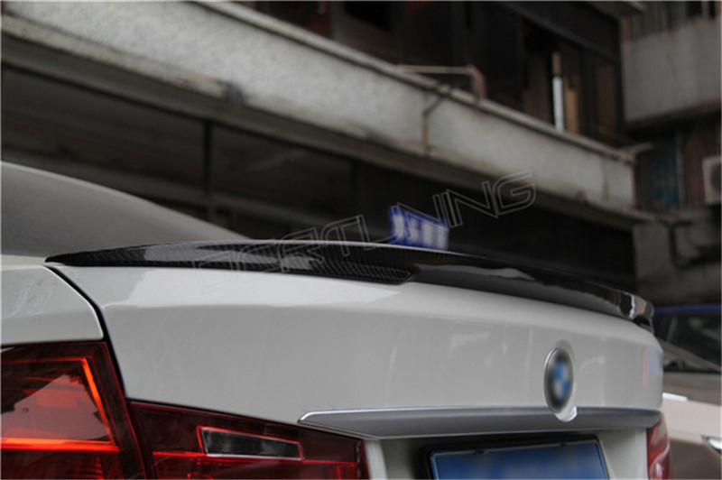 DCR TUNING P Style For BMW F30 F80 M3 Spoiler Carbon Fiber Material M Performance Style 2012 - 2016 320i 328i 335i 326D F30 Carbon Fiber