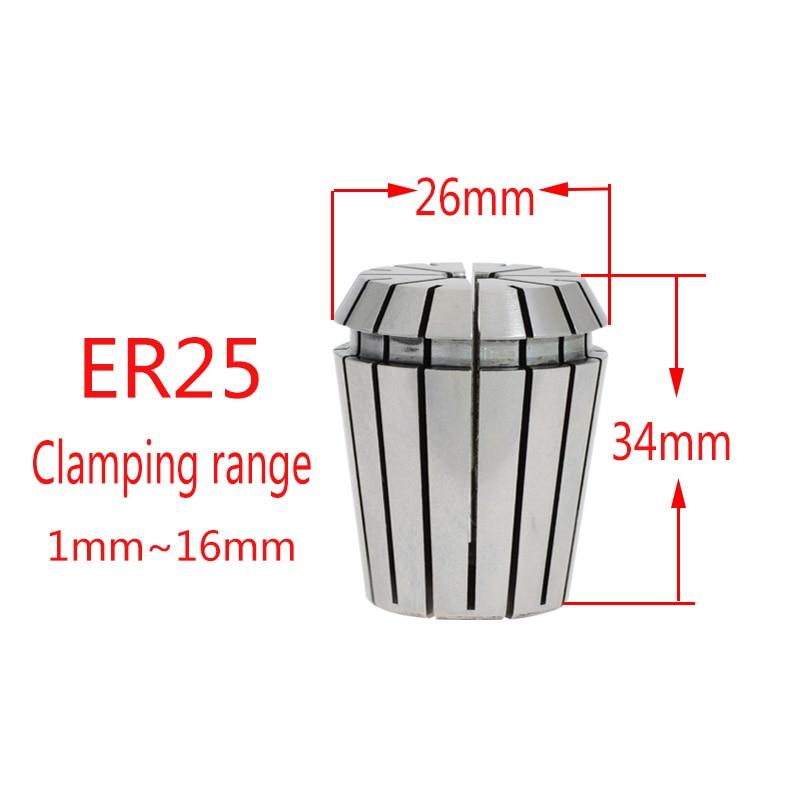 Купить с кэшбэком 1pcs 0.003mm high precision UP clamp ER25 engraving machine numerical control spring clamp AAA clamp3 4  6 8 10 12 14 16 3.175mm