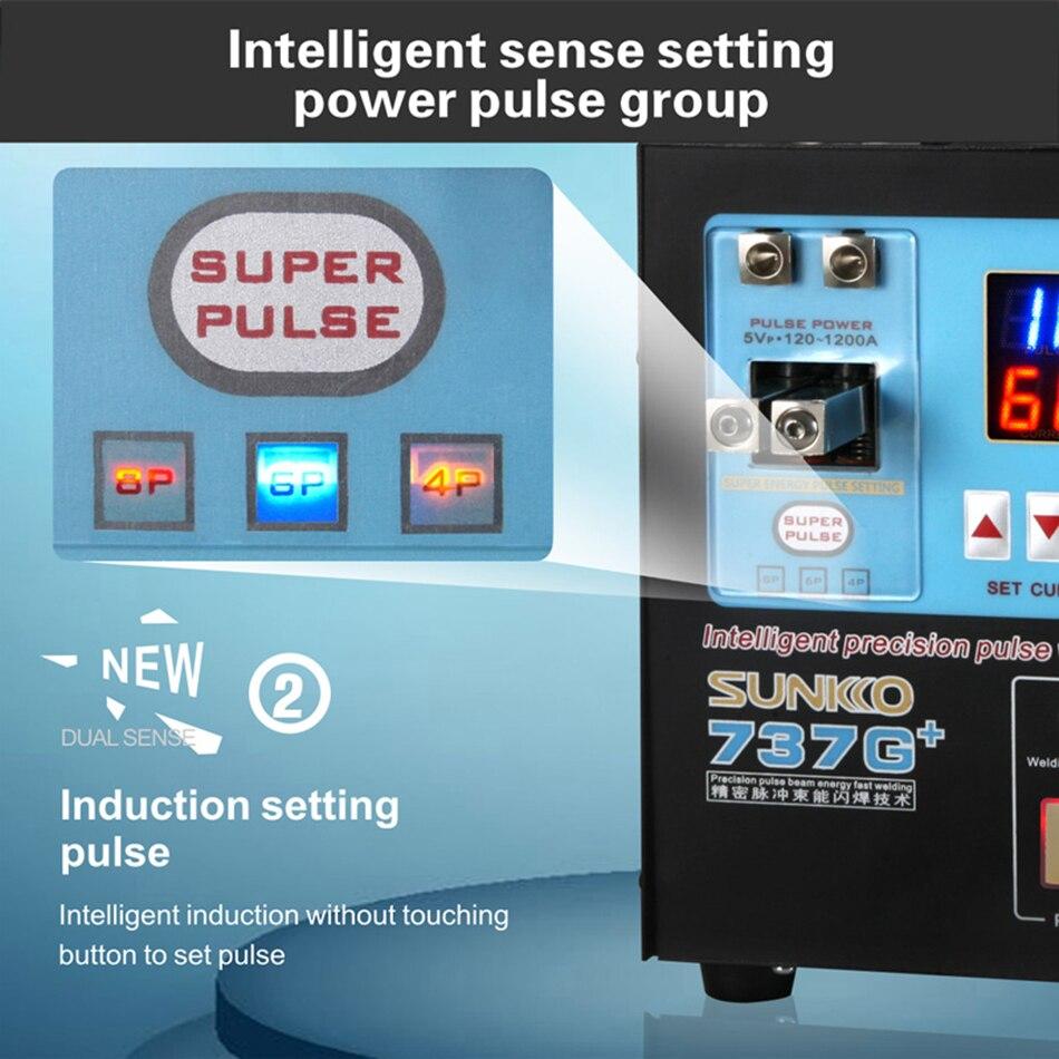 Image 5 - SUNKKO 737G 737G + smart boutique battery pack DIS inductive handheld dual function battery spot welderSpot Welders   -