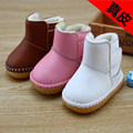 Hot Selling 2016 Genuine Leather Baby Waterproof Soft Sole Shoes Baby Boys Girls Snow Boots First Walkers Toddlers Free Shipping