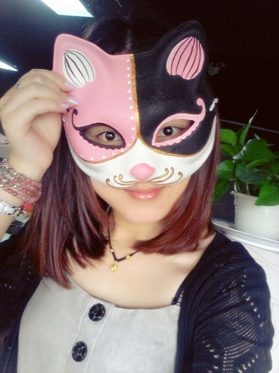 Aliexpress.com : Buy New Quality Handmade DIY Mask Halloween Pink ...