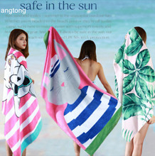 1PC 160X80cm European and American wind 100% cotton beach towel PBK print pure no formaldehyde extra large size T4