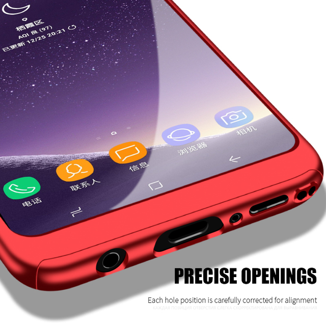 360 Degree Full Cover Case For Samsung Galaxy S9 S8 Plus Note 8 9 Phone Cases For iPhone 6 6s 7 8 Plus 5 5S SE X Protective Case